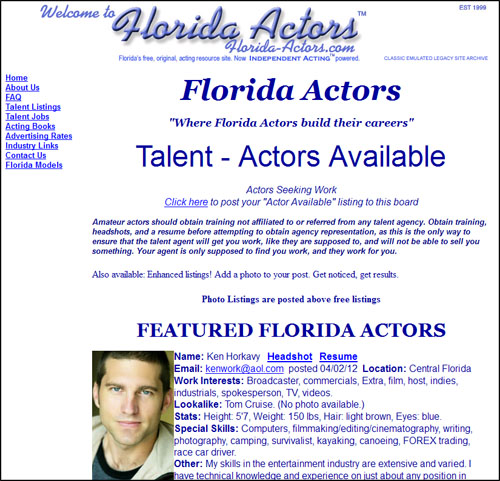Florida Actors forever!